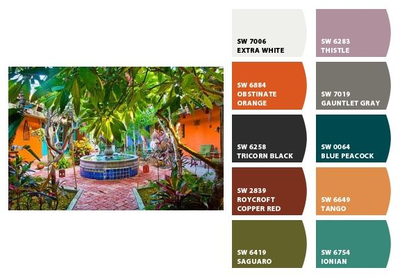 Tropical Color Scheme For The Home Pinterest