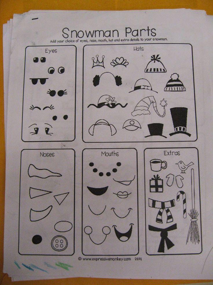 Jamestown Elementary Art Blog: 3rd Grade Heather Galler Folk Art Snowmen
