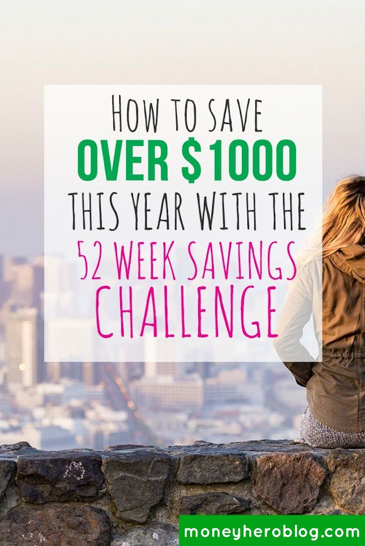 Want to know an easy way to save over $1300 this year? Try the 52 week savings challenge! I'll show you how to save up some money! Click to get a free printable!