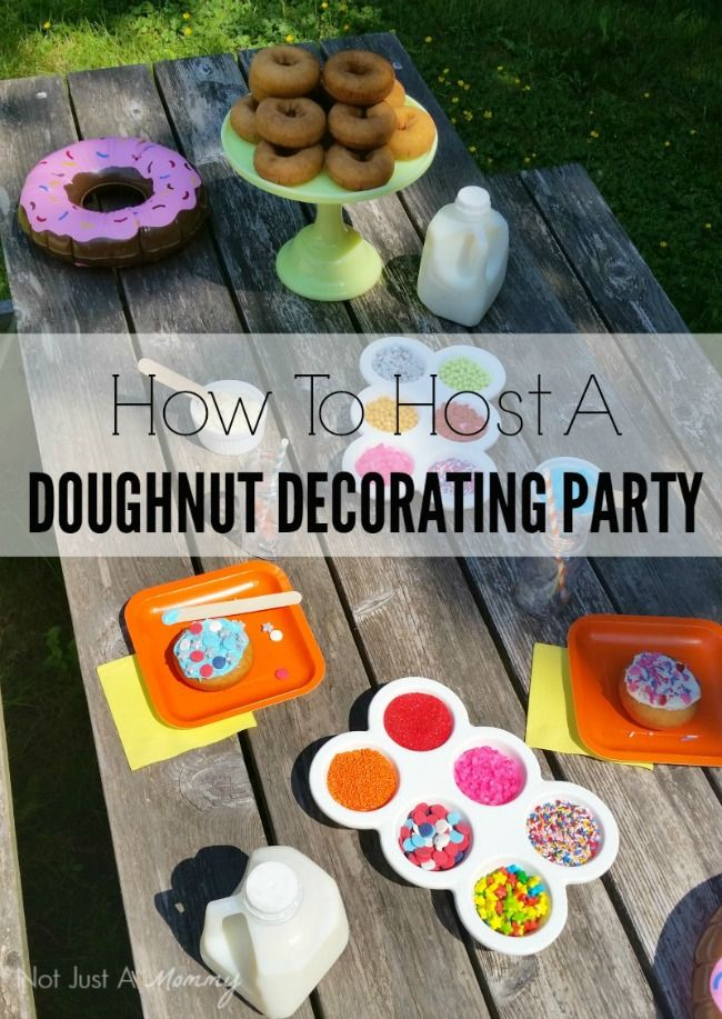 Doughnut Decorating Party - perfect as a birthday party activity or for a slumber party breakfast!