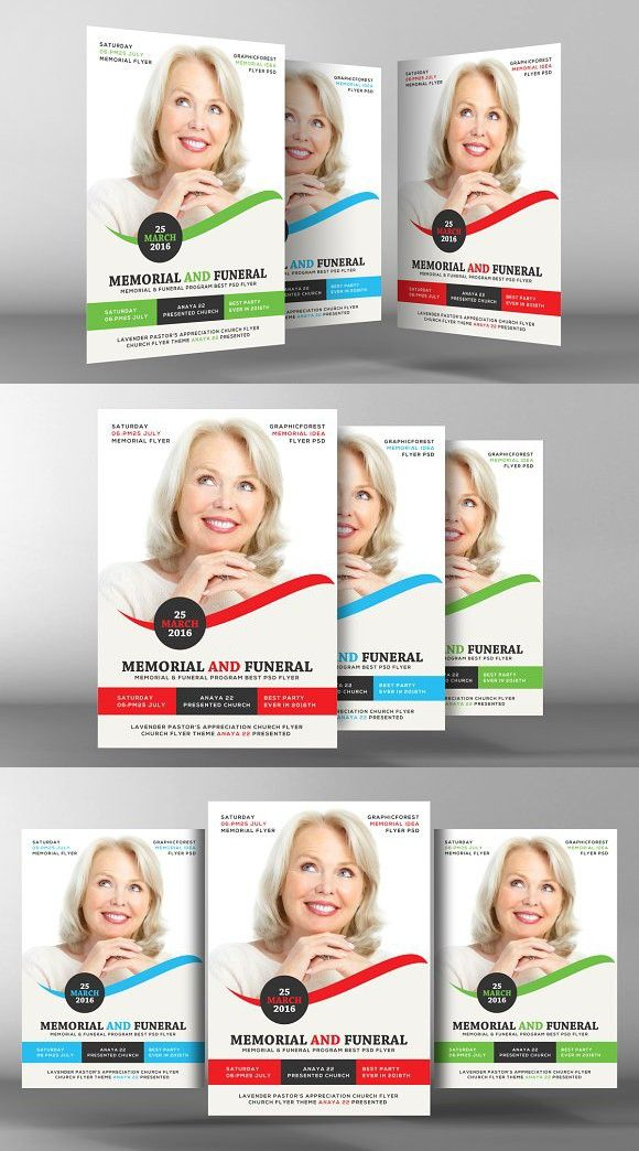 memorial flyer template flyer template template and fonts