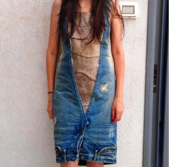 Еще одно джинсо-платье / Переделка джинсов / Модный сайт о стильной переделке одежды и интерьера