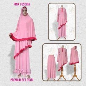 Busana Muslim - Syari Pink