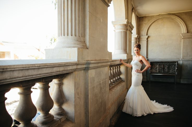 Classical elegance never goes out of style. Lovely Jasmine in Peter De Petra couture.