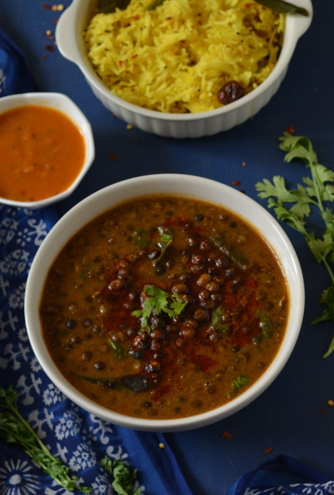 Dried black peas curry  in tangy coconut and tomato sauce – A Malwani speciality