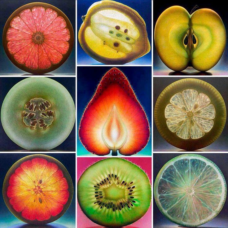 Fruit collage art