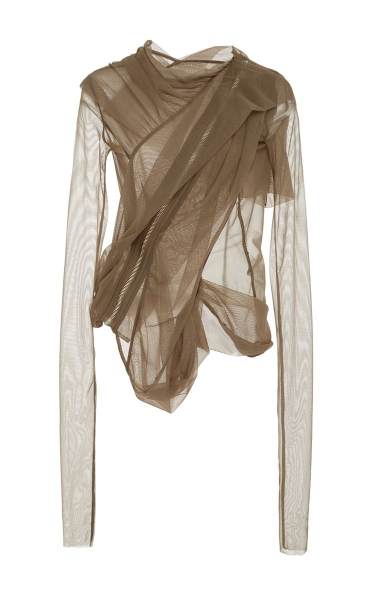 Sheer Tulle Jacket by RICK OWENS LILIES Now Available on Moda Operandi