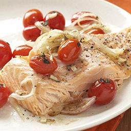 Salmon with Roasted Tomatoes and Shallots - Price Chopper Recipe