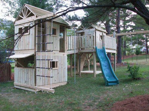 97 best Children's Playground images on Pinterest | Playground ideas Fort Playground Ideas Backyard on playhouse fort, swing set fort, diy fort, snow fort, build a back yard fort,