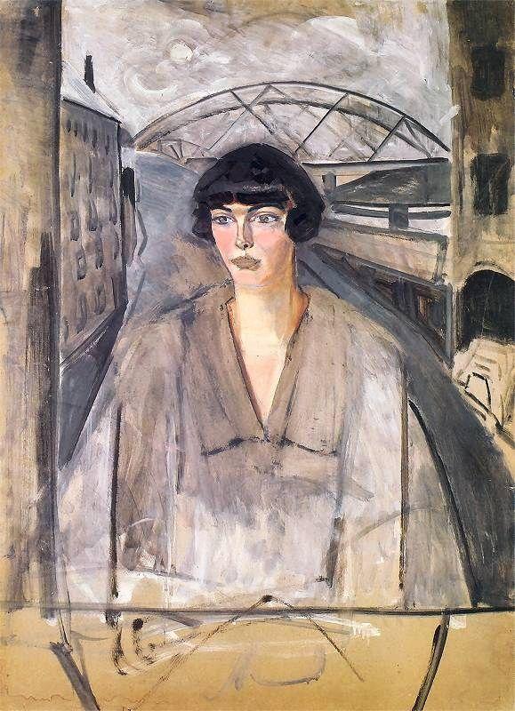 Rafal Malczewski (Polish painter, 1892-1965) Portrait of Sophia Stryjeńska ca. 1925-29