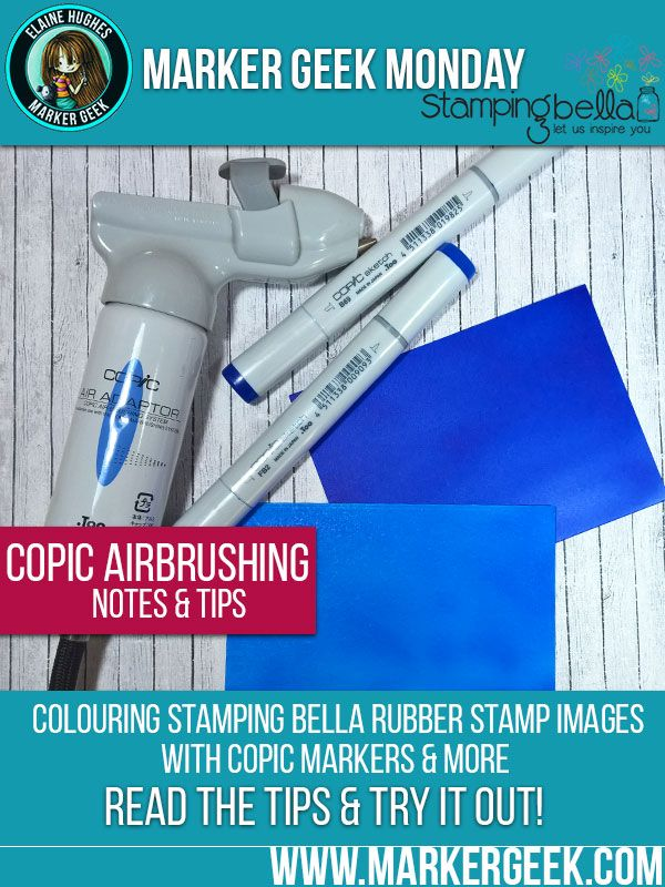 Marker Geek Monday: Copic Airbrushing Tips. Click through to read the blog post!