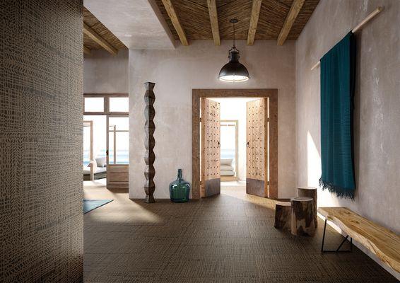Cisa Ceramiche Craft Cisa-Craft-0 , Séjour, style Style designer, Massimo Ioso Ghini, Effet effet tissu (papier de tenture), Grès cérame émaillé, revêtement mur et sol, Surface mate, Bord rectifié, Variation de nuances V2