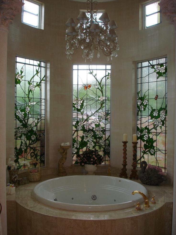 Bathroom Privacy Window Treatment