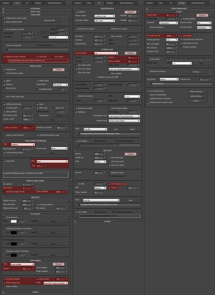 Fast Anim Settings in Vray