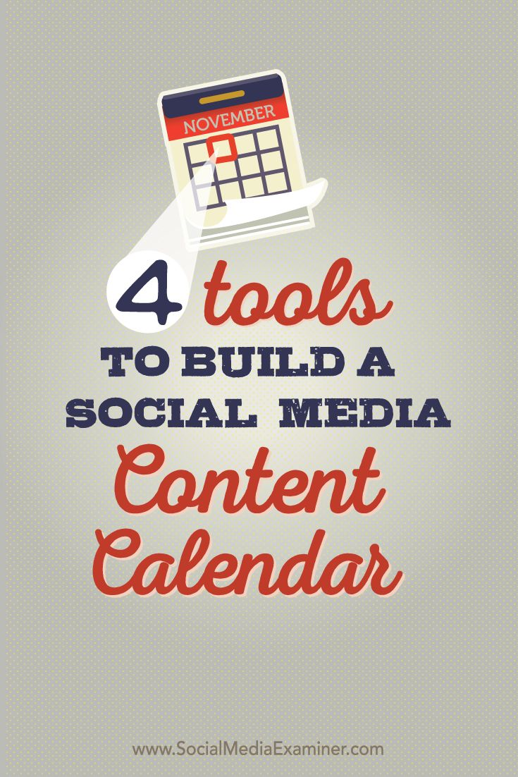 Do you struggle to keep track of your social media content? Creating a social media content calendar doesn't need to be complicated or require a whole new platform. In this article you'll find four ways to build a social media content calendar with tools you may already use. Via @smexaminer.