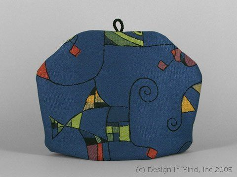 Tea Cozy - Strings and Things|Standard . $49.95. Modern Art comes alive in this elegantly woven decorator fabric. Very rich.