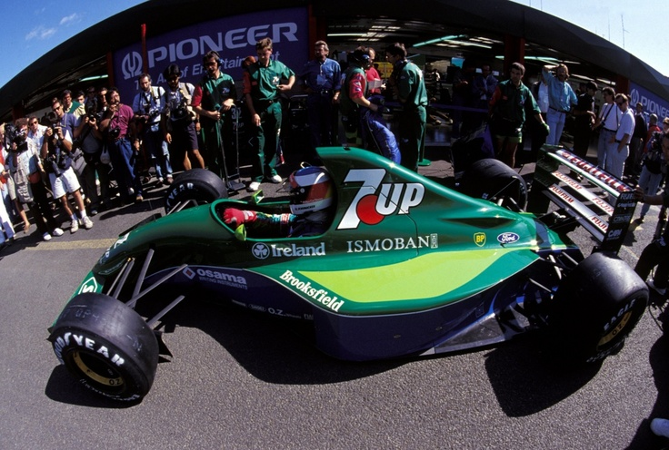 A GP later. Briatore stole him for Benetton and Eddie Jordan knew what F1 was (the piranha club, according to Ron Dennis)...