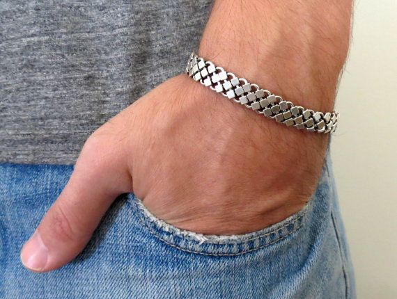 Ed Men's Bracelet  Man Silver Bracelets  Men's by Galismens