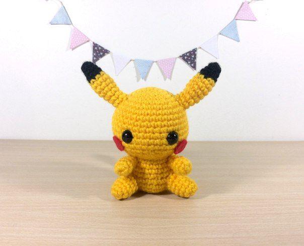 Ami-Domi del terreno: amigurumi tejer: Pikachu Pokemon amigurumi
