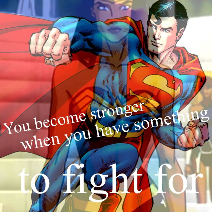 Superman and Wonder Woman inspired blend and quote
