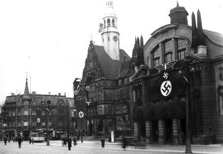 Die staatstragende Provinz: das Theater Bielefeld im Jahr 1936.