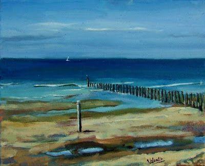 beach scene paintings | Beach Scene, Domburg, Zeeland
