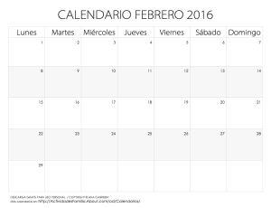 Calendarios 2016 para imprimir. Descarga gratis o imprime directamente desde nuestra web. Estos calendarios mensuales del 2016 te ayudar