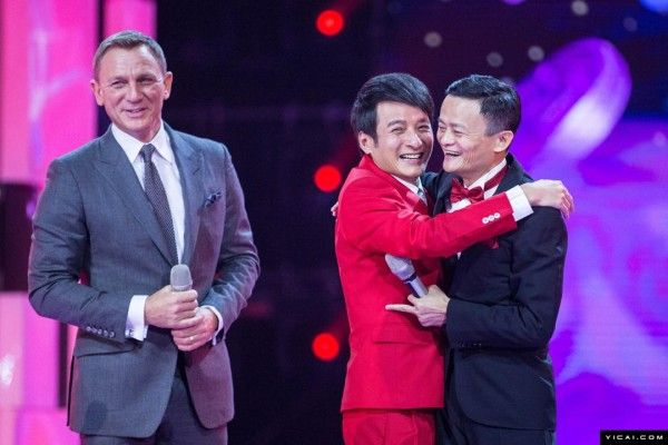 The shopping festival was opened in Beijing by Alibaba with a gala ceremony at the Water Cube attended by Chinese and foreign celebrities, such as Zhao Wei and Daniel Craig.  http://www.visiontimes.com/2015/11/12/chinese-singles-spend-14-3-billion-to-celebrate-singles-day.html