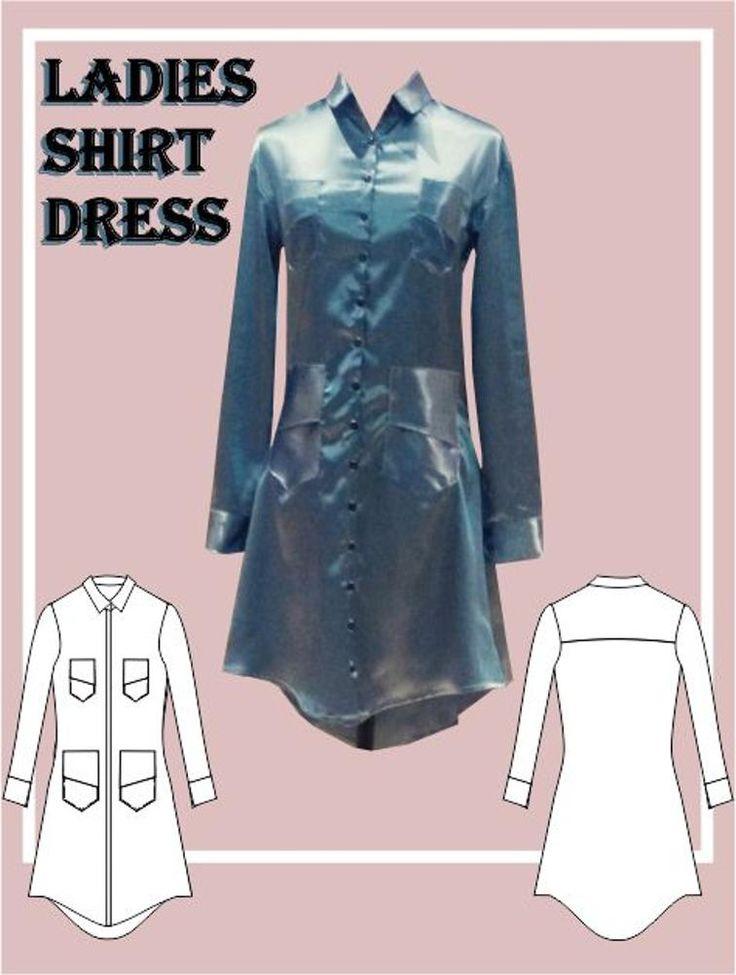 Ladies Shirt Dress Sewing Pattern | Craftsy