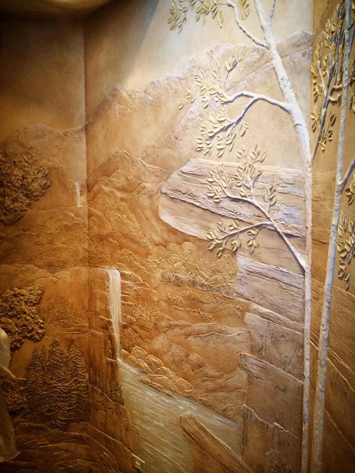 Unique Wall Finishes : Best of facebook decorative art images on