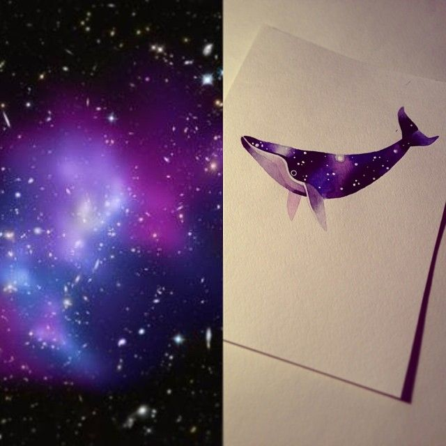 #space #whale #watercolor #sashaunisex