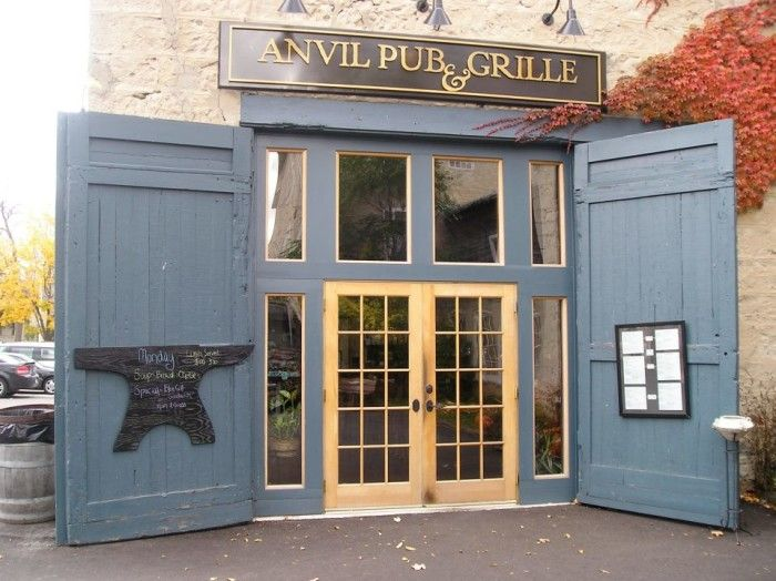 Anvil Pub and Grille (Cedarburg) - the BEST soups and don't miss their 'tan and black onion rings'