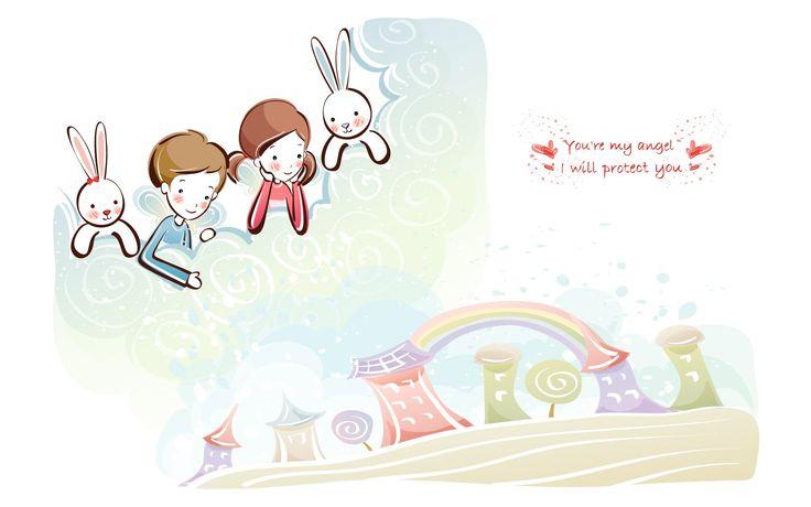 Fondos De Pantalla Gratis San Valentin 16: Fondos De Pantalla De Dibujos Animados De San Valentín (1