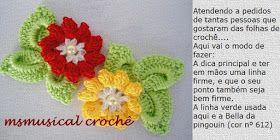 As Receitas de Crochê: ROSINHAS DE CROCHE MARAVILHOSAS
