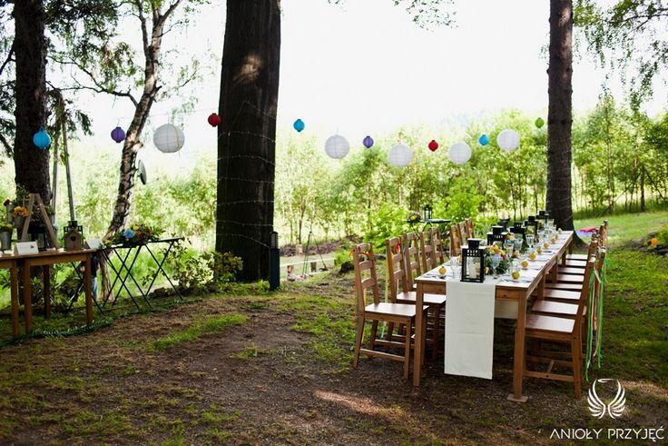 8. Forest Wedding,Outdoor wedding decor / Leśne wesele,Wesele w plenerze,Anioły Przyjęć
