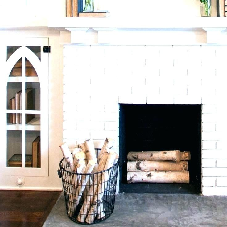 Candle Logs For Fireplace Birch Fireplace Logs Fireplace Basket