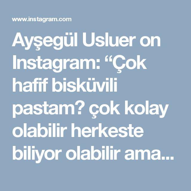 """Ayşegül Usluer on Instagram: """"Çok hafif bisküvili pastam😍 çok kolay olabilir herkeste biliyor olabilir ama lezzet önemli değilmi canlar 😍 Vişne soslu bisküvili…"""""""