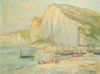 Robert Antoine Pinchon - Falaises d'Étretat