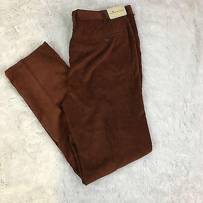 Peter Millar Mens Pants Size 42 Corduroy Brown NWT  | eBay