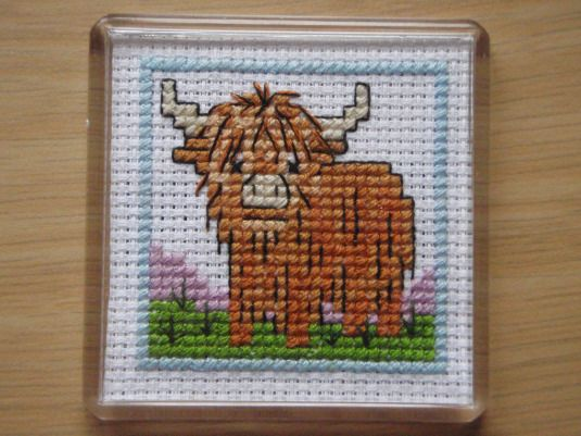 Highland Cow Cross Stitch