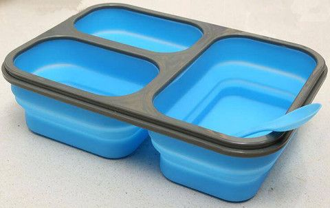 Haakaa Silicone Collapsible Lunchbox (lots of colours!) available in New Zealand from www.thelunchboxqueen.co.nz