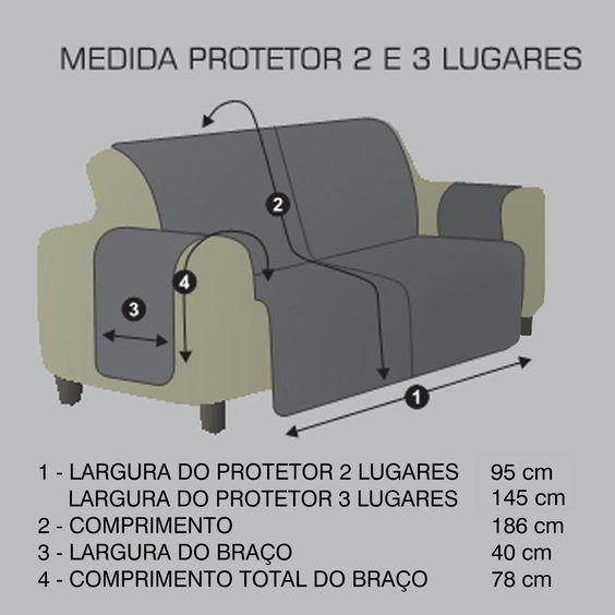 medidas protetor de sofa hedrons                                                                                                                                                      Mais