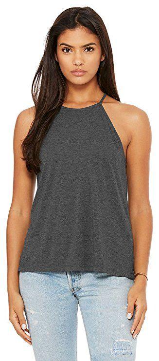 2b6775baaf105a Bella Canvas - Women s Flowy High Neck Tank - 8809 at Amazon Women s  Clothing store