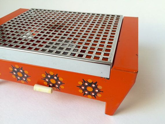 Vintage keukengerei: oranje rechaud van FabulousPlastics op Etsy