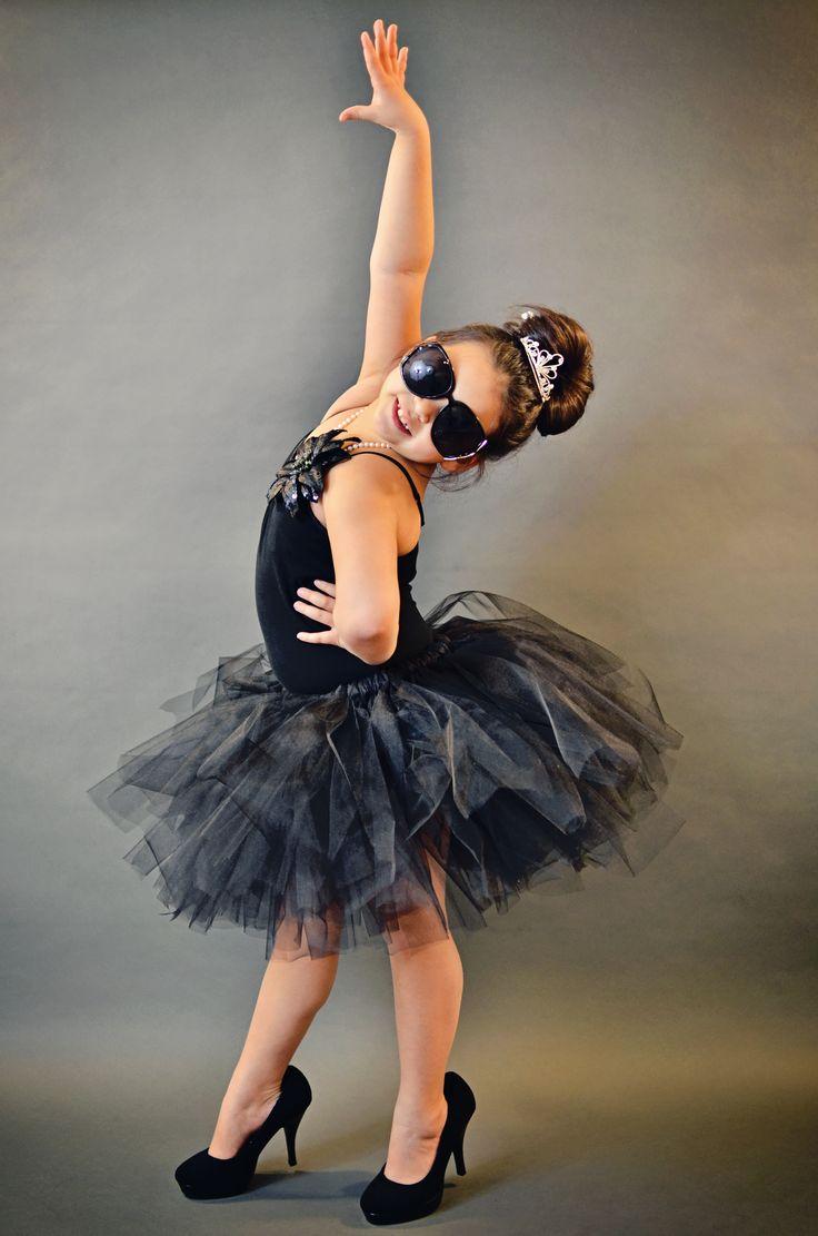 http://toughgirltutus.wordpress.com black tutu Audrey Hepburn style photography ideas kids dress up
