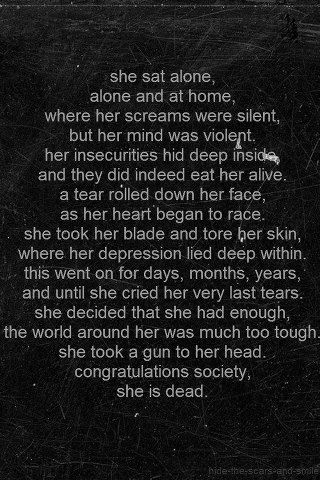 ~Society~ Im not saying this is me. JUST THAT PEOPLE NEED TO FUCKING LEARN WHAT NOT TO DO OR IT WILL END LIKE THIS.