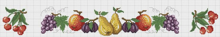 скатерть с фруктами