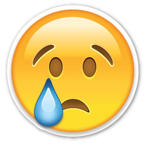 Crying Face | EmojiStickers.com