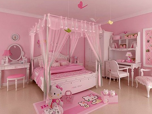 Pale Pink Hello Kitty Bedroom Room Decor And Design