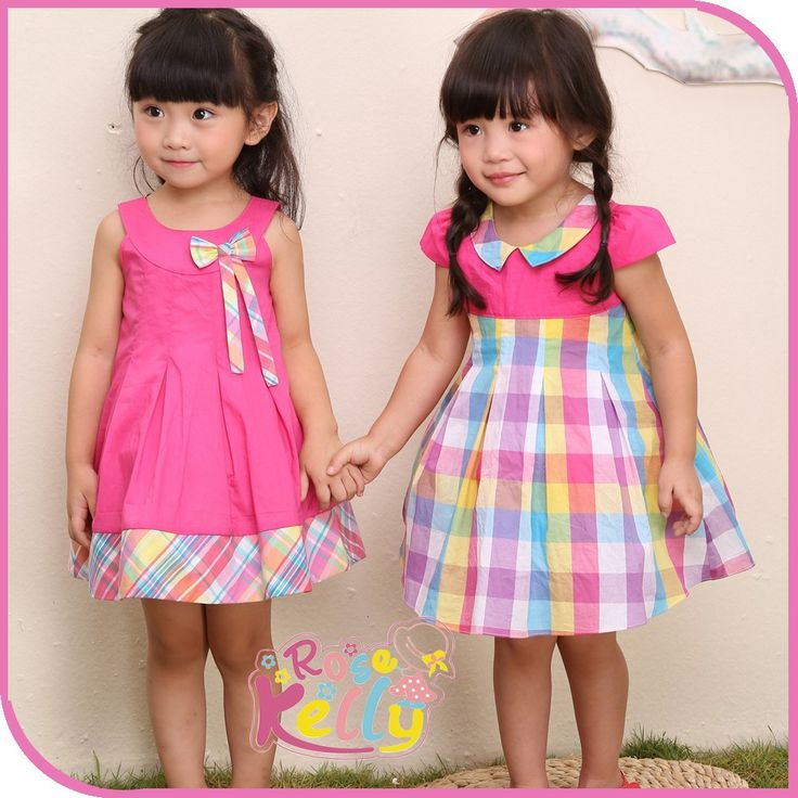 pink-plaid-cotton-baby-dress-for-twins.jpg (1000×1000)